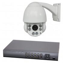 HD TVI Überwachungsset   FullHD PTZ Überwachungskamera PT4E und HD TV 4-Kanal Digitaler Videorekorder